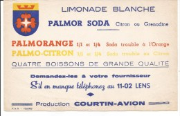 Buvard Lens. Limonade Blanche. Palmor Soda. Production Courtin-Avion.
