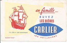 Buvard Dunkerque. Buvez les Bi�res Carlier. Les Meilleures.