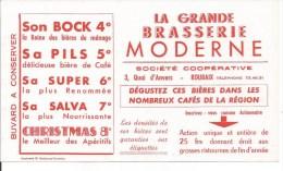 Buvard Roubaix 3, Quai d'Anvers. Grande Brasserie Moderne. Bi�res Bock, Pils Super 6, ...