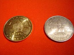 LOT 2 PIECES EURO TEMPORAIRE VILLE D´AUBENAS - Euros Des Villes