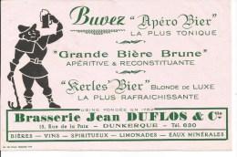 Buvard Dunkerque 15, Rue de la Paix. Brasserie Jean Duflos. Grande Bi�re Brune, ...;