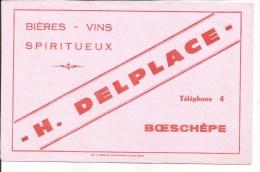 Buvard Boesch�pe. H. Delplace. Bi�res, Vins, Spiritueux.