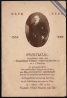 MENU - FEESTMAAL AANGEBODEN DOOR DE KON. VOETBALCLUB KNOKKE 1930 - VOOR RAYMOND AERTSSEN - Menükarten