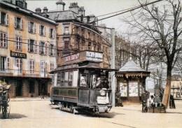 63 - Clermont-Ferrand - Tramway Place Delille - Animée (ré-édition CPSM) - Clermont Ferrand