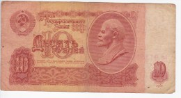 USSR ; Russie ; Russia ;  Rossiya ; 1961 ; 10 Rubles ; Used Banknote - Russia