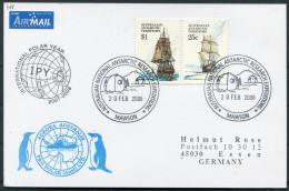2008 A.A.T. Antarctic Aurora Australis IPY Polar Penguin Ship Research Expedition Mawson Postcard - Australian Antarctic Territory (AAT)
