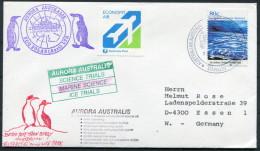 1992 A.A.T. Antarctic Aurora Australis Ship Marine Science Research Expedition Penguin Mawson Cover - Australian Antarctic Territory (AAT)