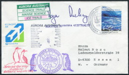 1992 A.A.T. Antarctic Aurora Australis Ship Ice Trials Research Expedition Penguin Mawson Cover - Covers & Documents