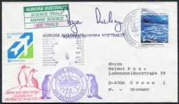 1992 A.A.T. Antarctic Aurora Australis Ship Ice Trials Research Expedition Penguin Mawson Cover - Australian Antarctic Territory (AAT)