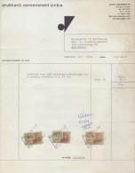 1968: Factuur Van/Facture De   ##Drukkerij VANSEVENANT P.v.b.a., Poperinge## Aan/à Brouwerij HAUSPIE. - Printing & Stationeries