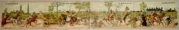 """Carte Système /4 Volets - Au Bon Marché -Exposition Universelle 1900- Humoristique """"Cochers, Attelage,Militaires"""" 8 Scan - Publicité"""