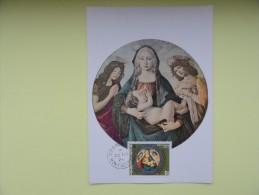 CARTE MAXIMUM MAXIMUM CARD LA VIERGE ET L'ENFANT DE SANDRO BOTICELLI MONTSERRAT - Religious
