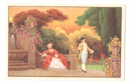 1930s  POSTCARD - COUPLE IN THE GARDEN & FLOWERS AND TREES - SERIES ELITE 2616 - Illustrateurs & Photographes