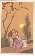 1930s  POSTCARD - COUPLE & SUNSET - N. 3013 - Illustrateurs & Photographes
