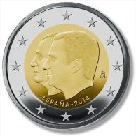 "SPANIEN  2€   2.014  2014   Bimetalic  SC/UNC  ""Proclamation Of The King FELIPE VI""   T-DL-11.132 Austria - Spanien"