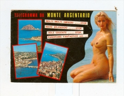 Telegramma Da MONTE ARGENTARIO,vedute Con Donna Nuda-1985 - Grosseto