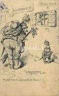 PROPAGNADE : DEPART POUR LA GUERRE - CACHET ALSACE - PAR K. POMMERHANZ  ILLUSTRATEUR MUNCHEN CASQUE A POINTE MILITARIA - Guerre 1914-18