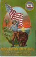 California Admission Day Festival 1910 San Francisco,  C1910s Vintage Postcard - Exposiciones
