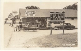 Pine Ridge Arkansas, Lum & Abner Jot'M Down Store Radio Program, Esso Gas, C1950s Real Photo Vintage Postcard - United States