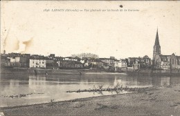 LANGON - 33 -   Vue Générale Sur Les Bords De La Garonne - ENCH11 - - Langon