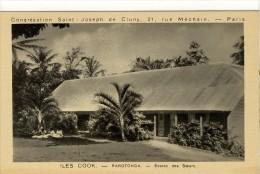 Carte Postale Ancienne Iles Cook - Rarotonga. Ecoles Des Soeurs - Cook Islands