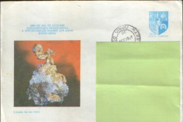 Romania- Postal Stationery Envelope 1979 Circulated - Minerals ,  Native Gold Crystals - Postal Stationery