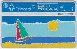 BELGIUM A-605 Hologram Belgacom - Leisure, Sailing - 225B - used