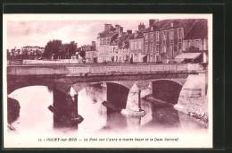 CPA Isigny-sur-Mer, Le Pont Sur L'Aure à Marée Basse Et Le Quai Surcouf - France