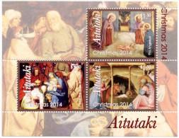 AITUTAKI - 2014 - Noël 2014, Peintures, La Nativité  - BF Neufs // Mnh - Aitutaki