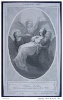 IMAGE PIEUSE Gravure Vers 1900: L´ALLELUIA ETERNEL , J´AI CRU...JE VOIS , Avec Les Anges / HOLY CARD / SANTINI - Images Religieuses