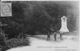 CERNAY LA VILLE : Statue De Pelouse - Belle CPA Postée En 1907 - Cernay-la-Ville