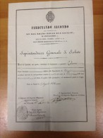 REGNO  DELLE DUE SICILIE 1858 - NOMINA DELL'ADDETTO ALLA DEPUTAZIONE SANITARIA DI REGGIO, DALLA SOPRINTENDENZA GENERALE - Wetten & Decreten
