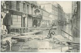 Innondation Paris 1910 Rue St Dominique - Inondations