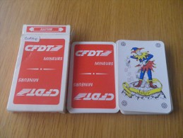 jeu de 32 cartes � jouer - syndicat - CFDT - MINEURS - MINE