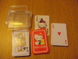 mini jeu de 52 cartes � jouer - HELLO KITTY