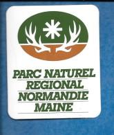Autocollant Touristique. Parc Naturel Régional Normandie Maine. - Autocollants