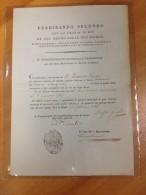 REGNO  DELLE DUE SICILIE 1841 - Nomina A Deputato Della Salute Del Comune Di Sangineto. - Wetten & Decreten