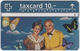 SWITZERLAND A-554 Hologram PTT - People, Seniors - 509F - used
