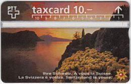 SWITZERLAND A-575 Hologram PTT - Landscape, Lake - 604G - used