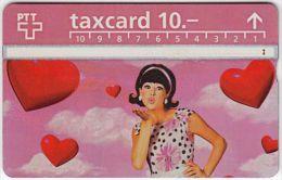 SWITZERLAND A-617 Hologram PTT - People, Woman, Heart - 501B - used