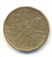 REPUBBLICA CEKA  20 KORUN  ANNO 1999 - Repubblica Ceca