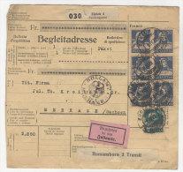 Schweiz Michel No. 169 , 203 auf Paketkarte