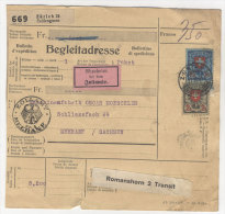 Schweiz Michel No. 196 , 197 auf Paketkarte