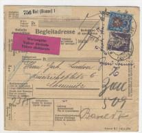 Schweiz Michel No. 106 , 196 auf Paketkarte Perfin