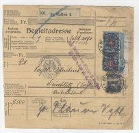 Schweiz Michel No. 196 auf Paketkarte