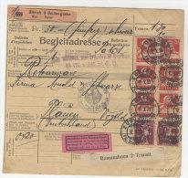 Schweiz Michel No. 102 , 200 auf Paketkarte