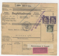Schweiz Michel No. 107 , 171 auf Paketkarte Perfin