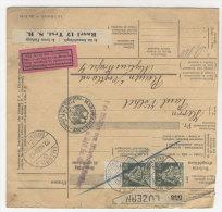 Schweiz Michel No. 107 auf Paketkarte
