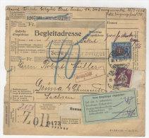Schweiz Michel No. 150 , 208 auf Paketkarte