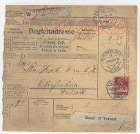Schweiz Michel No. 206 auf Paketkarte